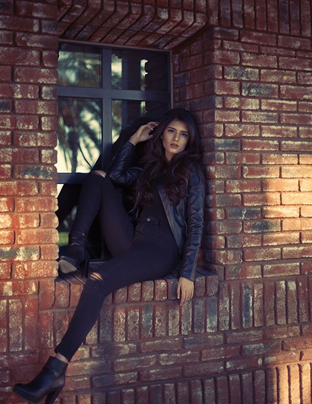 Fashion Editorial for model and actress Ghazaleh in Hollywood by professional fashion photographer Sid Rane in Orange County, Los Angeles