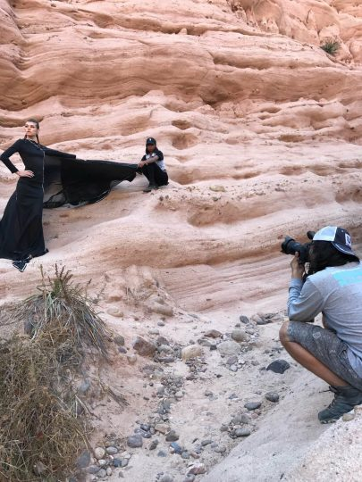 Fashion Editorial Photo Shoot in the canyons of Orange County Los Angeles