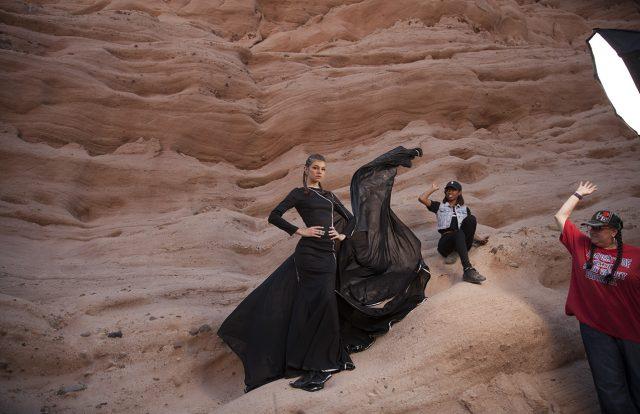 Fashion Shoot in Progress in Orange County Los Angeles Fashion photography
